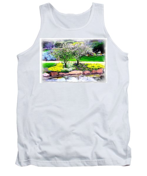Tank Top featuring the photograph Do-00066 Lake Walk by Digital Oil
