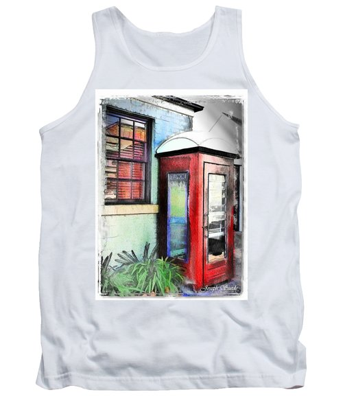 Do-00091 Telephone Booth In Morpeth Tank Top by Digital Oil
