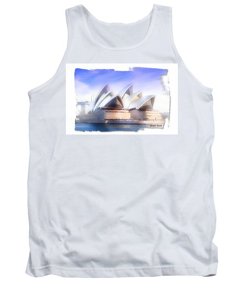 Tank Top featuring the photograph Do-00109 Opera House by Digital Oil
