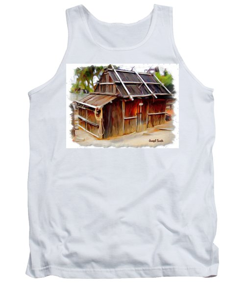 Tank Top featuring the photograph Do-00129 Old Cottage by Digital Oil