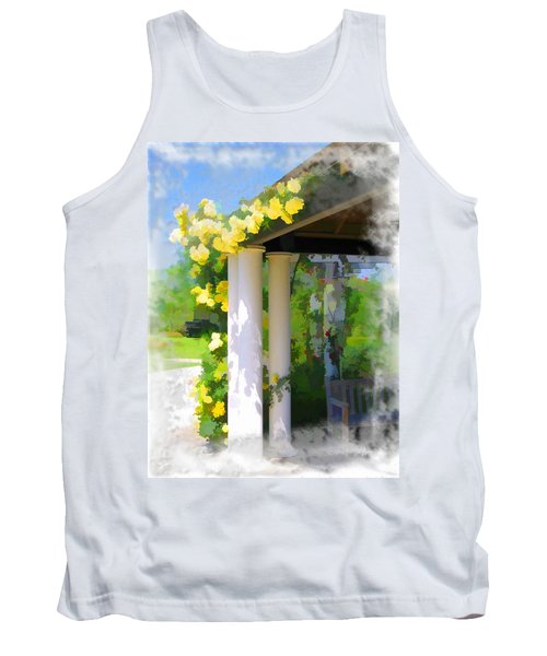 Tank Top featuring the photograph Do-00137 Yellow Roses by Digital Oil