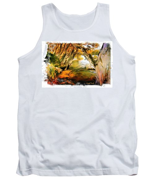 Tank Top featuring the photograph Do-00268 Trees On Water In Avoca Estuary by Digital Oil