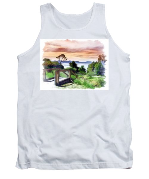 Do-00272 Look Out From Sarah Island Tank Top by Digital Oil