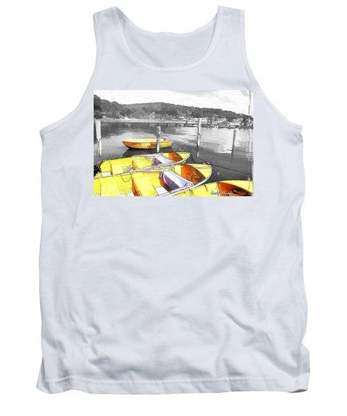 Do-00279 Yellow Boats Tank Top