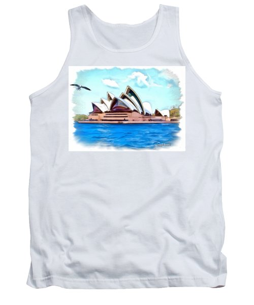 Tank Top featuring the photograph Do-00293 Sydney Opera House by Digital Oil