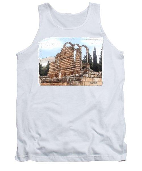 Do-00302 Ruins In Anjar Tank Top by Digital Oil