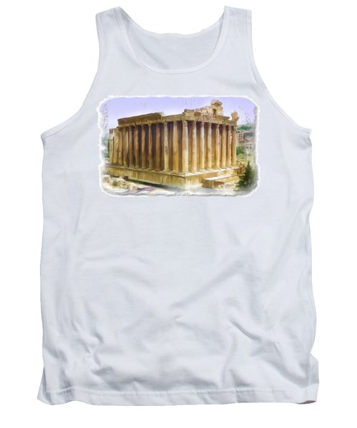 Do-00312 Temple Of Bacchus In Baalbeck Tank Top by Digital Oil