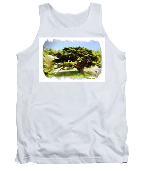 Do-00319 Cedar Tree Tank Top by Digital Oil
