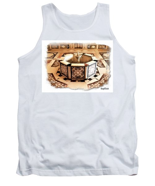 Tank Top featuring the photograph Do-00323 Old Bath Fountain by Digital Oil