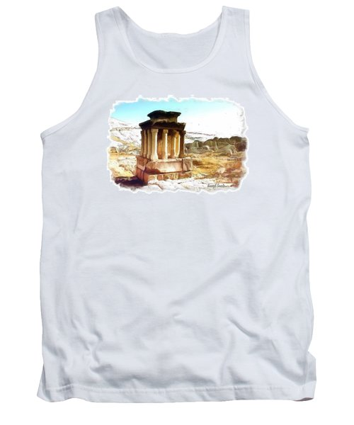Do-00432 The Temple Of Faqra Tank Top by Digital Oil