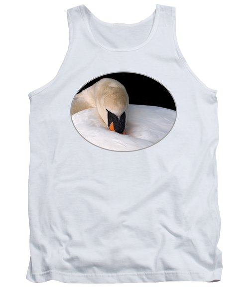 Do Not Disturb - Swan On Nest Tank Top by Gill Billington