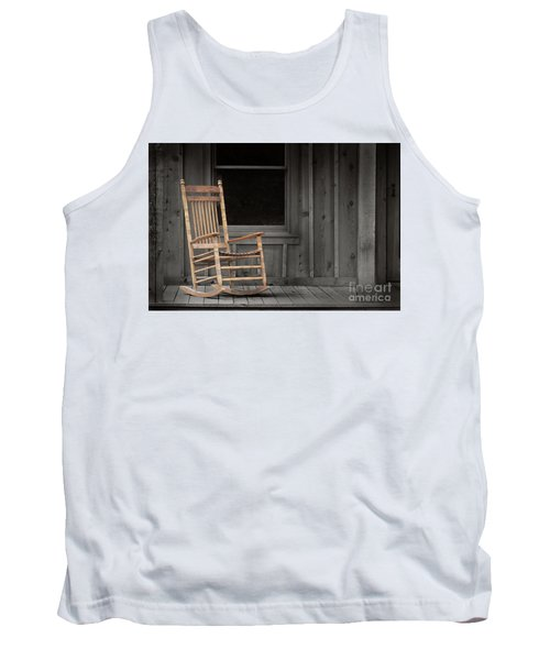 Tank Top featuring the photograph Dock Chair by Sebastian Mathews Szewczyk