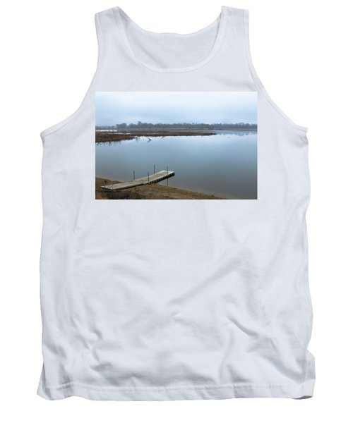 Dock On A Serene Lake Tank Top