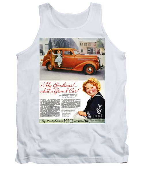 Dodge Automobile Ad, 1936 Tank Top by Granger
