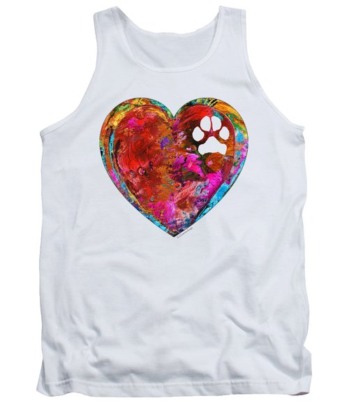 Dog Art - Puppy Love 2 - Sharon Cummings Tank Top