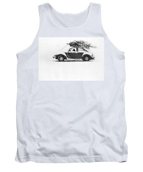 Dog In Car  Tank Top