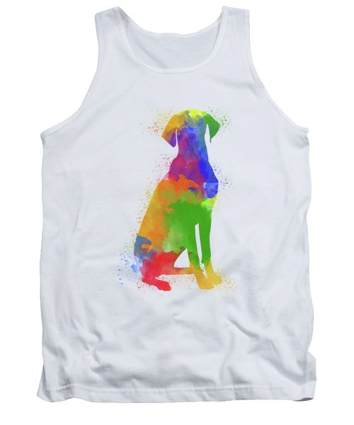 Dog Watercolor 1 Tank Top