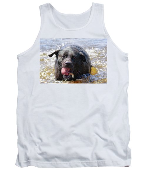 Dogs Sticks And Ponds Tank Top