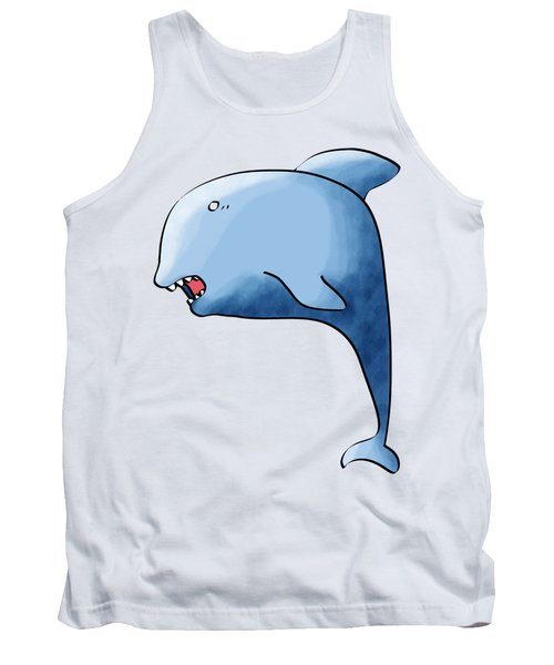 Dolphin Blue Tank Top