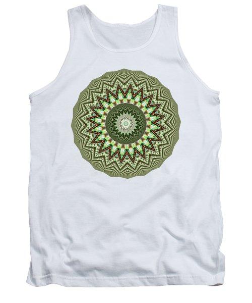 Dome Of Chains Mandala By Kaye Menner Tank Top by Kaye Menner