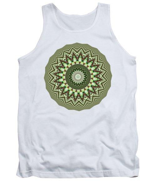 Dome Of Chains Mandala By Kaye Menner Tank Top
