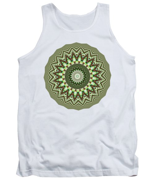 Dome Of Chains Mandala By Kaye Menner Tank Top