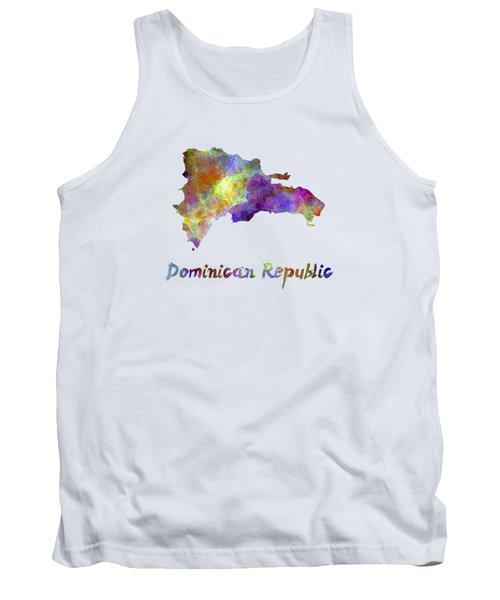 Dominican Republic In Watercolor Tank Top