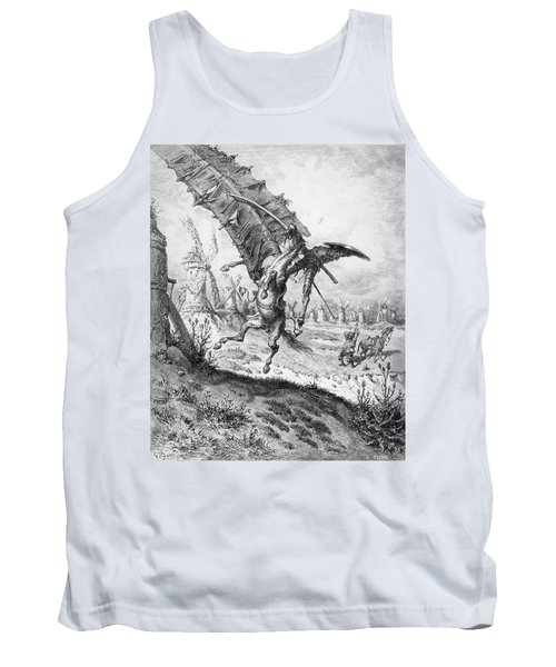 Don Quixote And The Windmills Tank Top