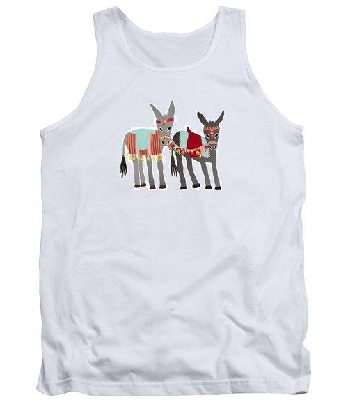 Donkeys Tank Top by Isoebl Barber