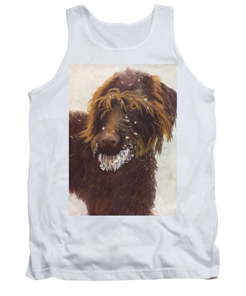 Don't Eat The Snow Tank Top by Nancy Jolley