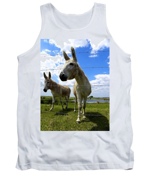 Tank Top featuring the photograph Don't Fence Me In 001 by Chris Mercer