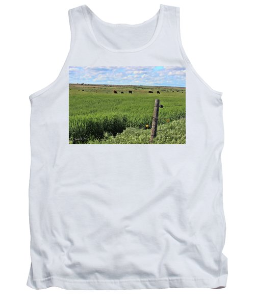 Don't Fence Me In Tank Top by Sylvia Thornton