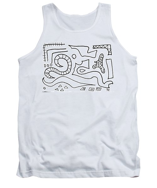 Doodle Tank Top by Patricia Cleasby
