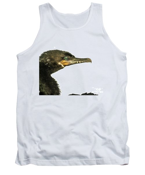 Tank Top featuring the photograph Double-crested Cormorant  by Robert Frederick
