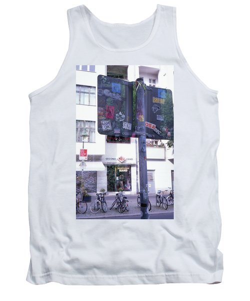 Double Exposure Street Sign Tank Top