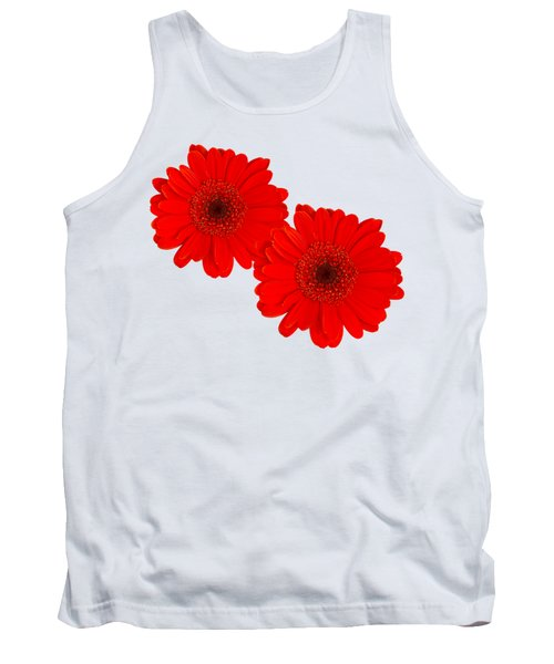 Double Gerbera Tank Top by Scott Carruthers