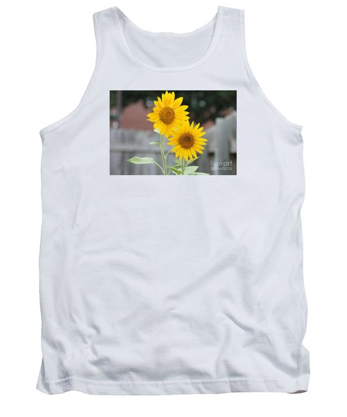 Double Sunflowers Tank Top