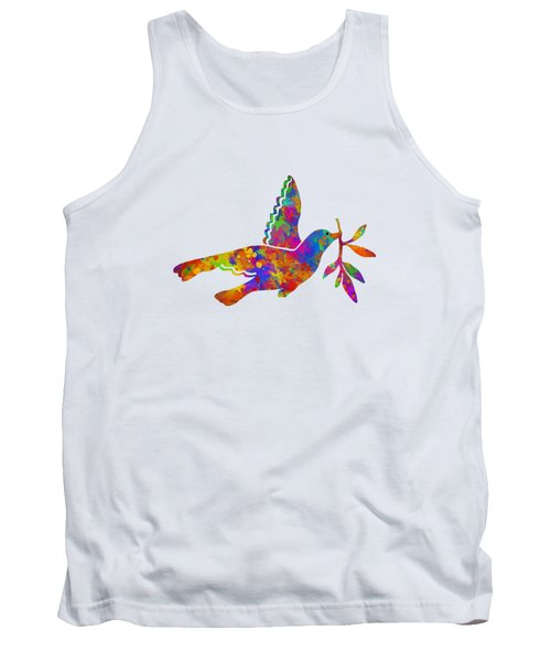 Dove With Olive Branch Tank Top