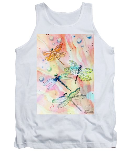 Tank Top featuring the painting Dragon Diversity by Denise Tomasura