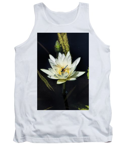Dragon Fly On Lily Tank Top
