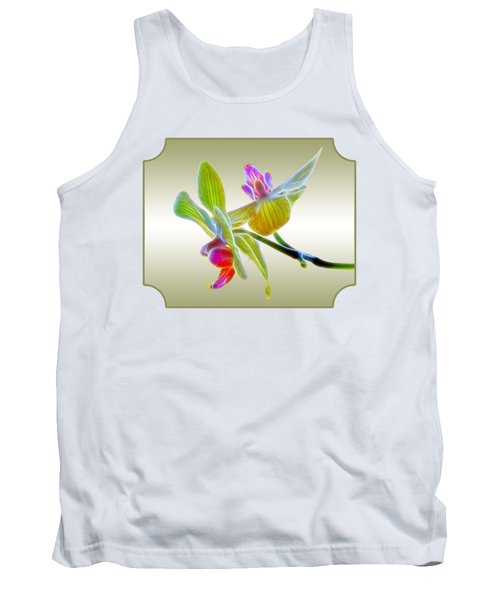 Dragon Glow Orchid Tank Top by Gill Billington
