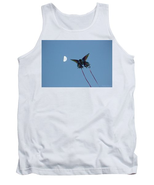 Dragonfly Chasing The Moon Tank Top