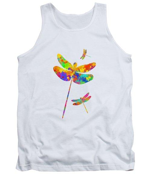 Dragonfly Watercolor Art Tank Top