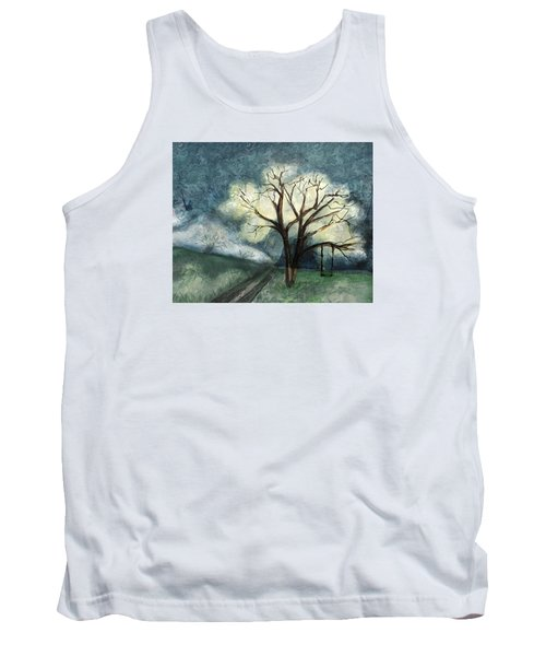 Tank Top featuring the painting Dream Tree by Annette Berglund