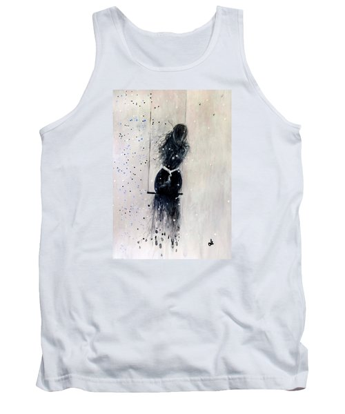 Tank Top featuring the painting Dreams Come True.. 6 by Cristina Mihailescu