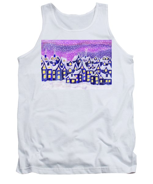 Dreamstown Blue, Painting Tank Top