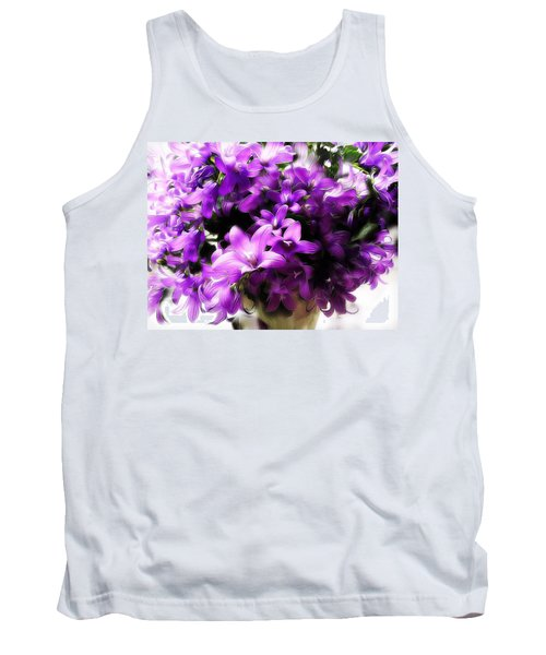 Tank Top featuring the mixed media Dreamy Flowers by Gabriella Weninger - David