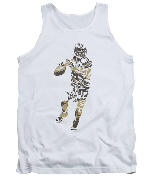 Drew Brees New Orleans Saints Pixel Art T Shirt 1 Tank Top