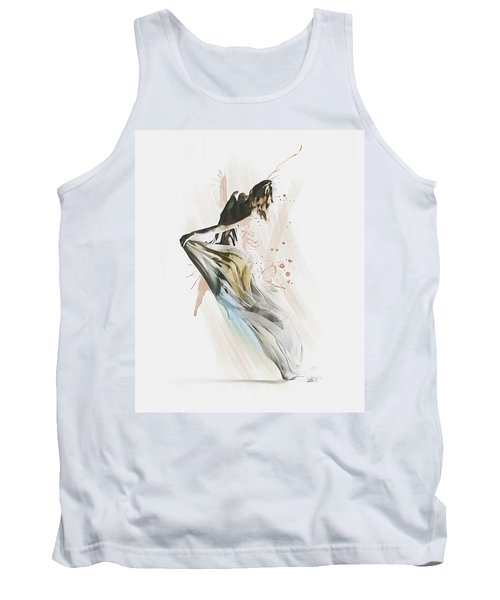 Tank Top featuring the digital art Drift Contemporary Dance by Galen Valle