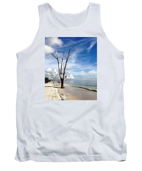 Tank Top featuring the photograph Driftwood At Lovers Key State Park by Janet King